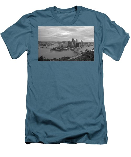 Pittsburgh - View Of The Three Rivers Men's T-Shirt (Slim Fit)