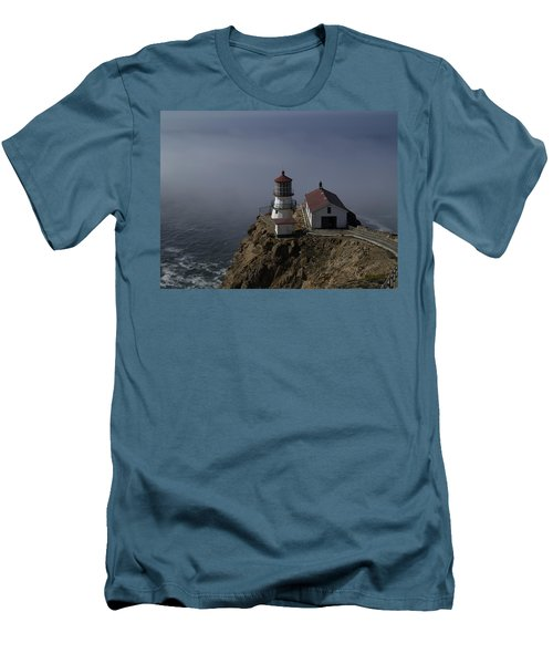 Pt Reyes Lighthouse Men's T-Shirt (Slim Fit) by Bill Gallagher