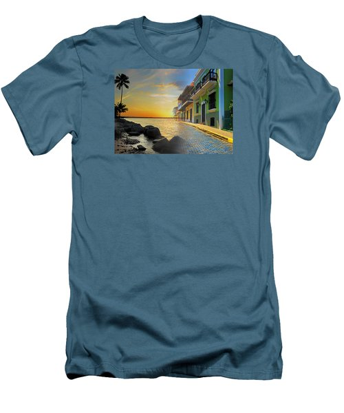Puerto Rico Collage 4 Men's T-Shirt (Slim Fit) by Stephen Anderson