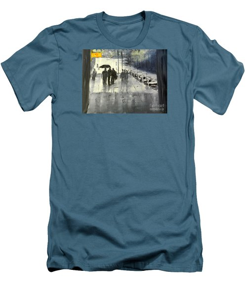 Rainy City Street Men's T-Shirt (Slim Fit)
