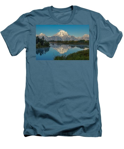 Reflections Of Mount Moran Men's T-Shirt (Athletic Fit)