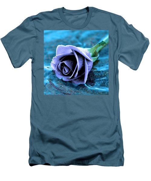 Rose In Water  Men's T-Shirt (Athletic Fit)
