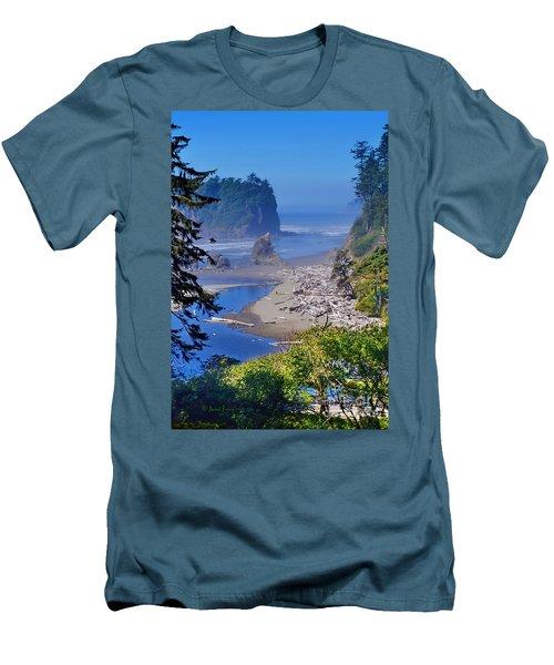 Ruby Beach Men's T-Shirt (Athletic Fit)