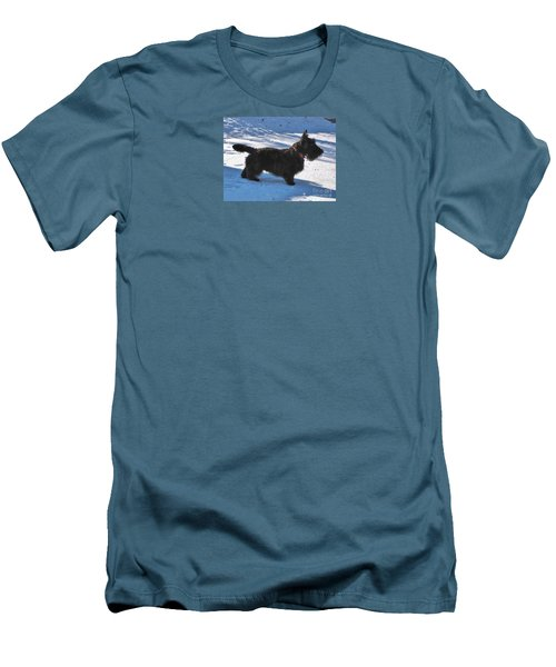 Men's T-Shirt (Slim Fit) featuring the photograph Scottie Silhouette by Michele Penner