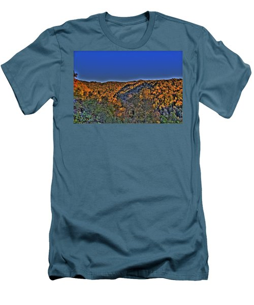 Men's T-Shirt (Slim Fit) featuring the photograph Sun On The Hills by Jonny D