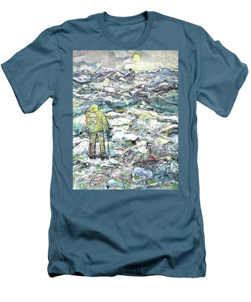 Tranquility Men's T-Shirt (Slim Fit) by Evelina Popilian