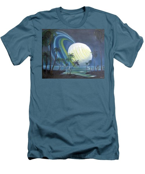 Tropical Moon Men's T-Shirt (Athletic Fit)