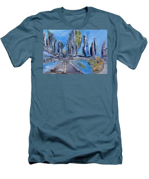 Urban Men's T-Shirt (Slim Fit) by Evelina Popilian
