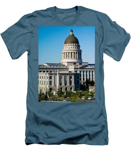 Utah State Capitol Building, Salt Lake Men's T-Shirt (Slim Fit) by Panoramic Images