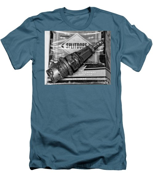 Men's T-Shirt (Slim Fit) featuring the photograph Vintage Sparkplugs by Wilma  Birdwell