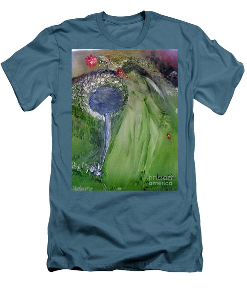 Water Girl Men's T-Shirt (Slim Fit) by Laurie L
