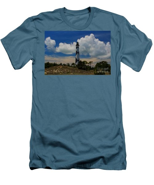 Cape Lookout Lighthouse Men's T-Shirt (Slim Fit) by Tony Cooper
