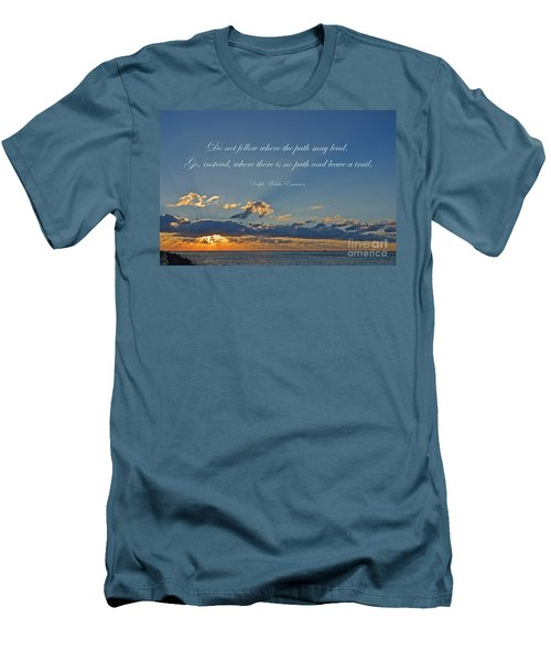 149- Ralph Waldo Emerson Men's T-Shirt (Athletic Fit)