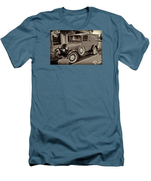 Men's T-Shirt (Slim Fit) featuring the digital art 1930 Ford Panel Truck by Richard Farrington