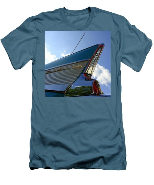 Men's T-Shirt (Slim Fit) featuring the photograph 1957 Chevrolet Bel Air Fin by Joseph Skompski