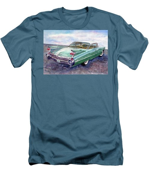 1959 Cadillac Cruising Men's T-Shirt (Slim Fit) by Anna Ruzsan
