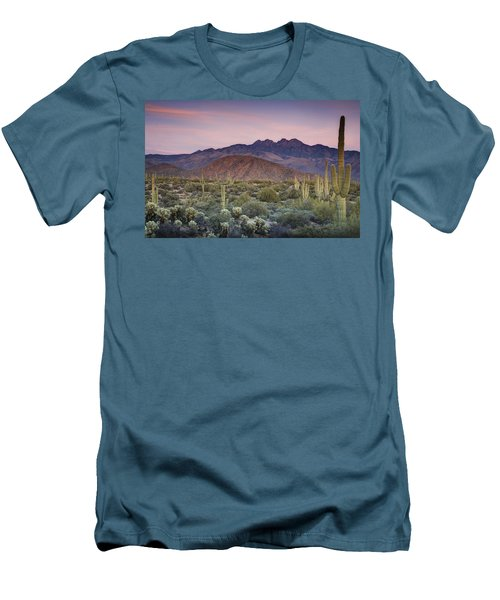 A Desert Sunset  Men's T-Shirt (Athletic Fit)