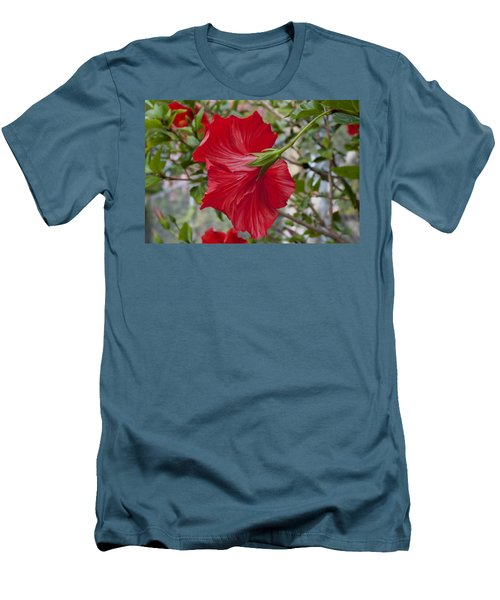 Abstract Hibiscus Men's T-Shirt (Athletic Fit)