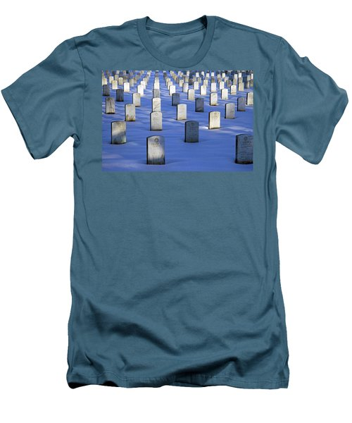 Men's T-Shirt (Slim Fit) featuring the photograph Beneath The Snow by Cora Wandel