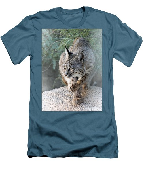 Men's T-Shirt (Slim Fit) featuring the photograph I Was Grooming by Elaine Malott