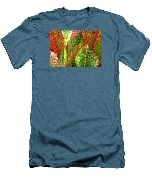 Colorful Leaves Men's T-Shirt (Slim Fit) by Ranjini Kandasamy