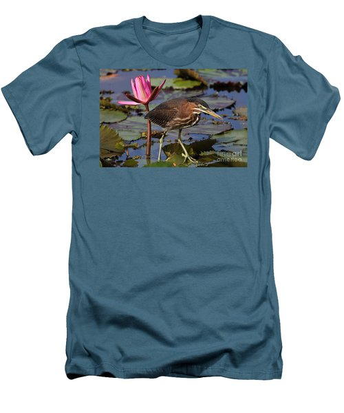 Green Heron Photo Men's T-Shirt (Athletic Fit)