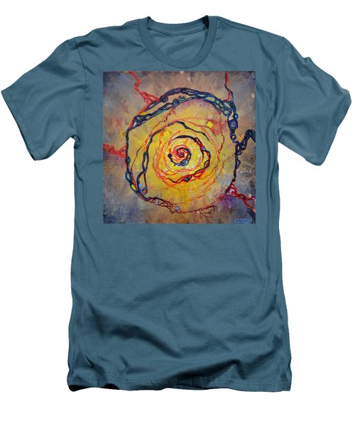 Growth Pattern Men's T-Shirt (Slim Fit) by Regina Valluzzi