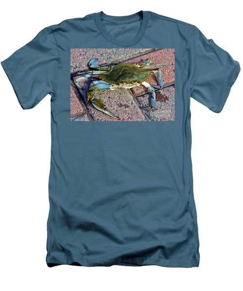Men's T-Shirt (Slim Fit) featuring the photograph Hudson River Crab by Lilliana Mendez