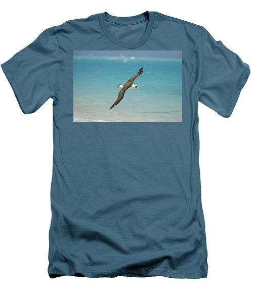 Laysan Albatross Flying Midway Atoll Men's T-Shirt (Athletic Fit)