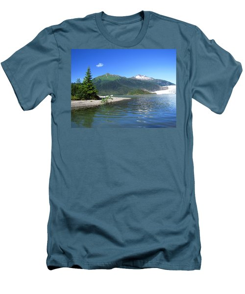 Mendenhall Glacier Men's T-Shirt (Slim Fit) by Jennifer Wheatley Wolf