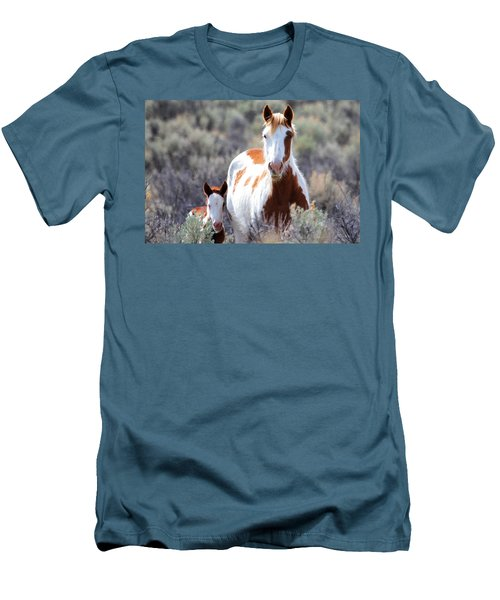 Momma And Baby In The Wild Men's T-Shirt (Slim Fit) by Athena Mckinzie