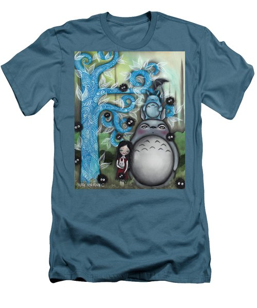 My Friend Men's T-Shirt (Slim Fit) by Abril Andrade Griffith