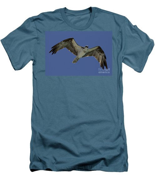 Men's T-Shirt (Slim Fit) featuring the photograph Osprey In Flight Photo by Meg Rousher
