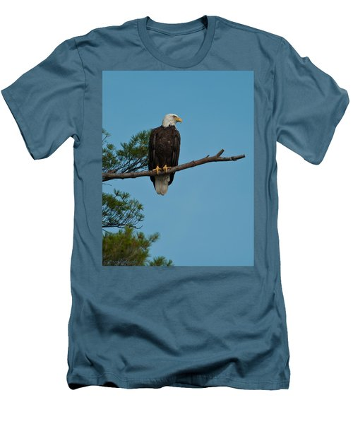 Men's T-Shirt (Slim Fit) featuring the photograph Out On A Limb by Brenda Jacobs