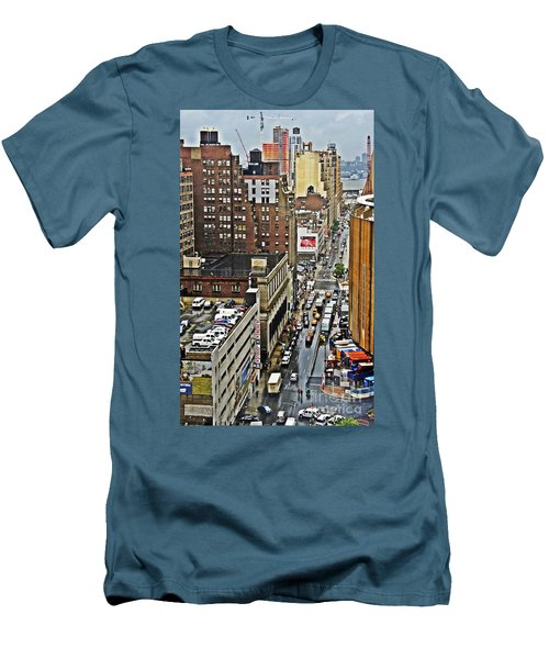 Men's T-Shirt (Slim Fit) featuring the photograph Park N Lock by Lilliana Mendez