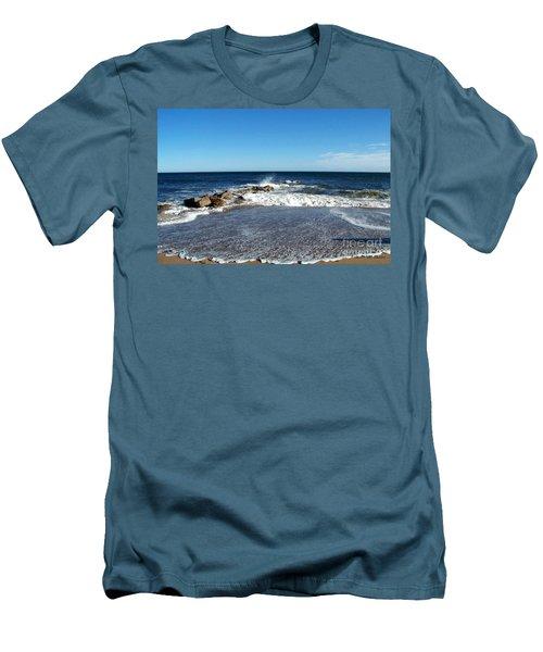 Men's T-Shirt (Slim Fit) featuring the photograph Plum Island Landscape by Eunice Miller