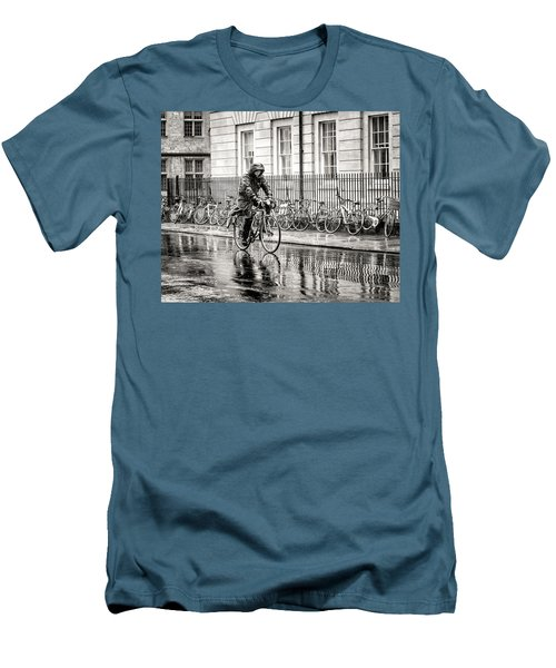 Rainy Day Ride Men's T-Shirt (Slim Fit) by William Beuther