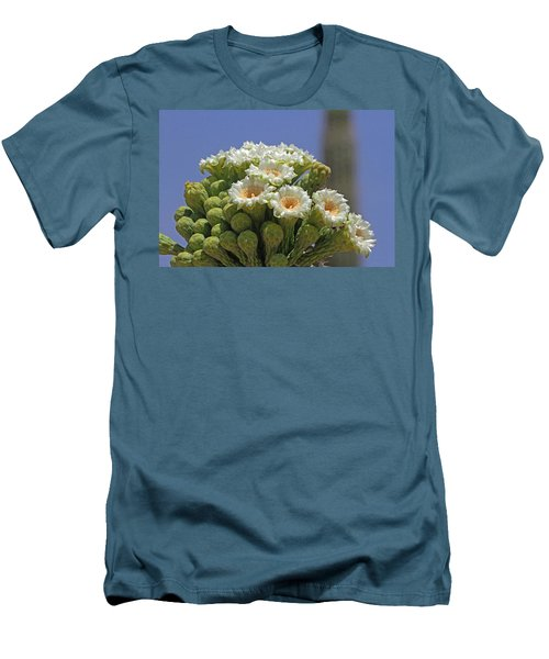 Saguaro Flower And Buds  Men's T-Shirt (Athletic Fit)