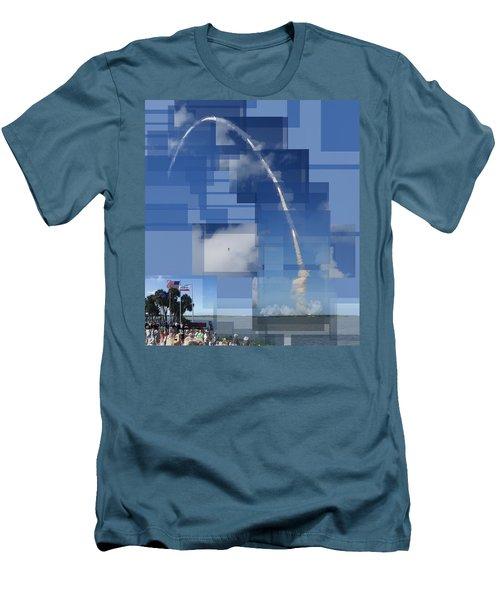 2008 Space Shuttle Launch Men's T-Shirt (Athletic Fit)
