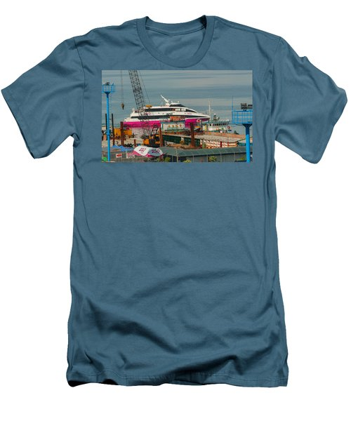 Men's T-Shirt (Slim Fit) featuring the photograph 2go Travel by Ester  Rogers