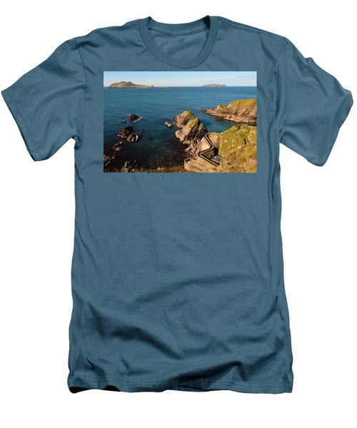 Men's T-Shirt (Slim Fit) featuring the photograph Blasket Islands by Barbara Walsh