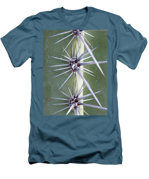 Men's T-Shirt (Slim Fit) featuring the photograph Cactus Thorns by Deb Halloran