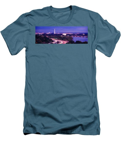 High Angle View Of A Cityscape Men's T-Shirt (Slim Fit) by Panoramic Images