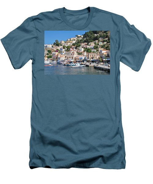 Yialos Harbour Symi Men's T-Shirt (Athletic Fit)