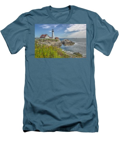 Men's T-Shirt (Slim Fit) featuring the photograph Portland Headlight by Jane Luxton