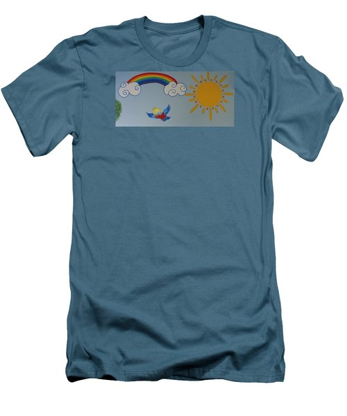 Wall Painting Men's T-Shirt (Athletic Fit)