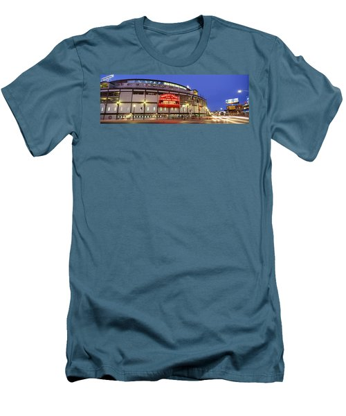 Usa, Illinois, Chicago, Cubs, Baseball Men's T-Shirt (Slim Fit) by Panoramic Images