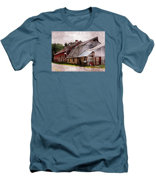 A Barn With Many Purposes Men's T-Shirt (Slim Fit) by Marcia Lee Jones