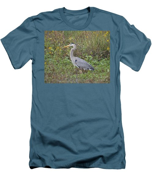 A Bird In A Bush Men's T-Shirt (Slim Fit) by Carol  Bradley