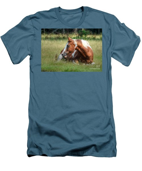 Men's T-Shirt (Slim Fit) featuring the photograph A Comfy Resting Place by Kathy Baccari